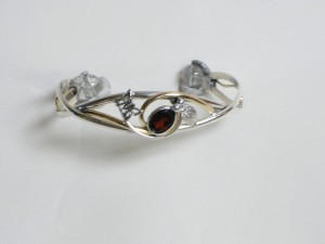 New Bracelet, Garnet, and butterfly