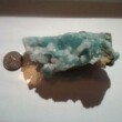 Quartz Drusy on Chrysocolla from high in the Andes in Peru