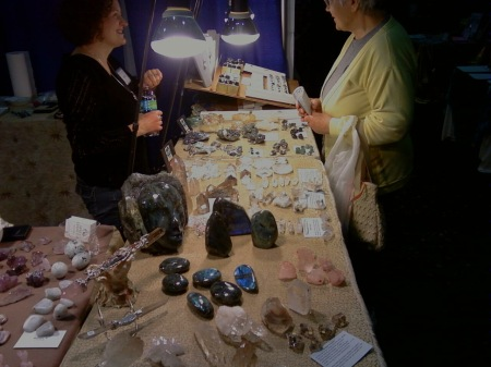 Jean Tindle at her Spirit Dancer Crystal Booth