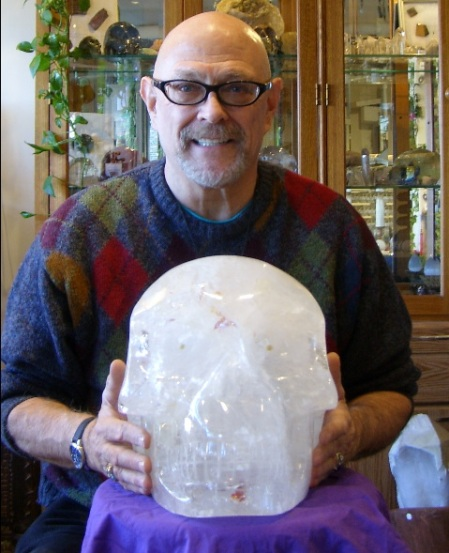 Steven Rosley with His Crystal Skull - Star Sirius