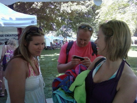 Happy Customers At The Ludington Art Festival