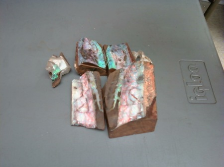 This Is a Sample Of The Opals That Des and Ann Brought With Them