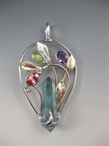 Aqua-Aura-Point-Peridot-Twilight-Topaz-Calla-Lilly-Pendant