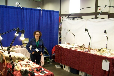 Jean with Her Booth