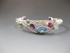 Topaz_ Topaz_ Amethyst and Peridot Bracelet