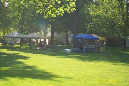 Looking East From Magical Delights Booth at Austin Garden Park in Oak Park Illinois