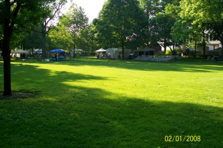 Looking South East From Magical Delights Booth at Austin Gardens Park in Oak Park Illinois