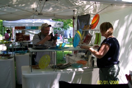 Robin_Kittleson_Glass_Artist_Being_Interviewed